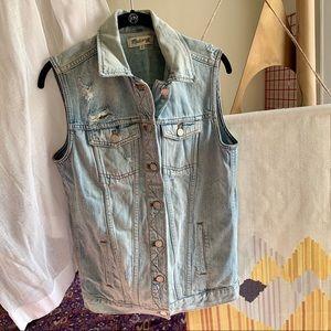 Madewell oversized denim vest